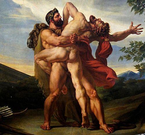 Hércules venciendo a Anteo. Fuente