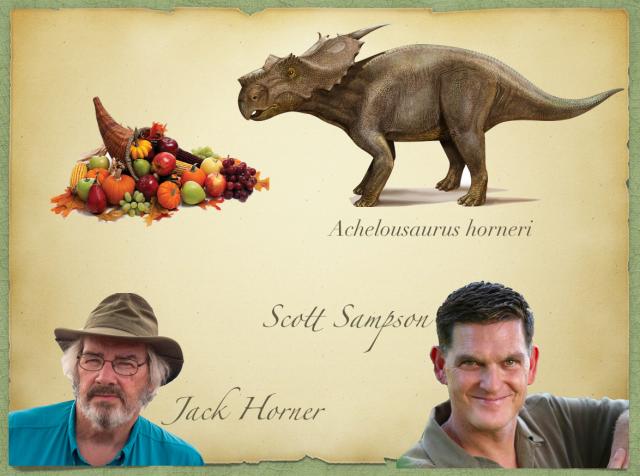 Scott Sampson, Jack Horner, Achelousaurus horneri y el Cuerno de la Abundancia.