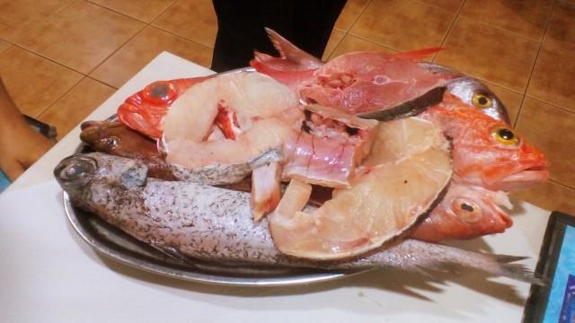 Una muestra del delicioso pescado que cenamos en el restaurante de la cofradía de pescadores de Gran Tarajal. Autor: F. Rodríguez
