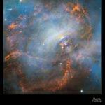 Imagen: Detalle del centro de la nebulosa del Cangrejo (M1) combinando tomas separadas por varios años usando el Telescopio Espacial Hubble. Crédito: NASA and ESA