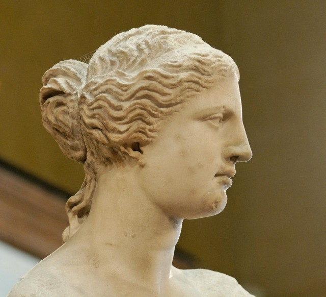 La cara de la Venus de Milo. Fuente