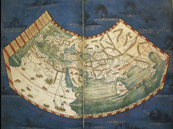 4.-Mapamundi de Ptolomeo incluido en la edición de Roma de 1478
