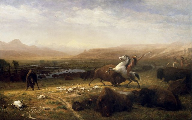 El último bisonte, de Albert Bierstadt. National Gallery of Art. Corcoran collection Obra pictórica que punto estuvo de ser premonitoria