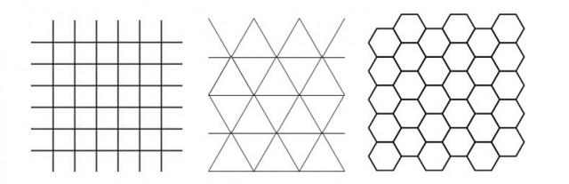 Polígonos que pueden unirse sin dejar espacio entre ellos