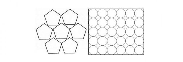 """Otros polígonos o círculos obligarían a usar cera """"de relleno"""""""