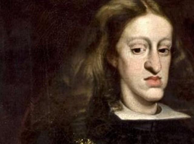 Retrato de Carlos II donde se aprecian sus destacables rasgos malformes [4]