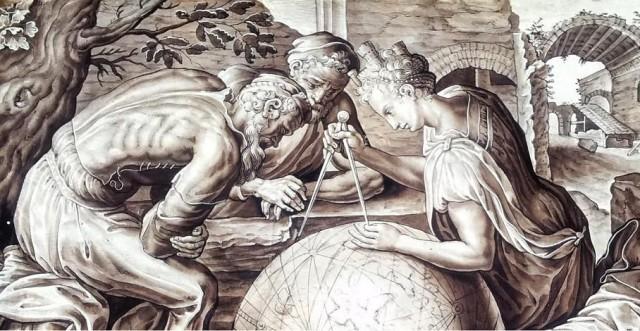 Geometría, de Frans Floris. Museo Británico.
