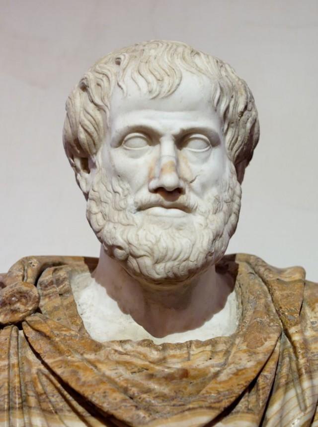 Busto de Aristóteles, copia romana de un original de Lisipo. Palacio Altemps de Roma.