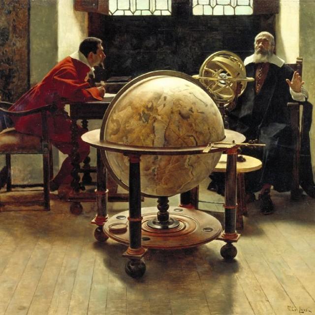 Galileo y Viviani, de Tito Lessi. Museo de la Ciencia de Florencia.