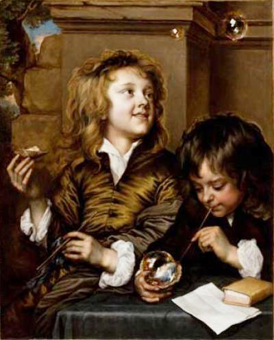 Figura 01: Adriaen Hanneman, «Two Boys Blowing Bubbles» (ca. 1630)