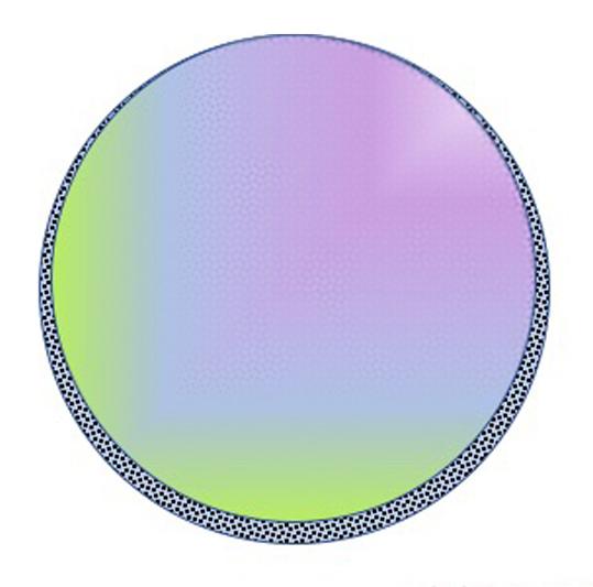 Figura 05: Sección de una burbuja mostrando el efecto de la gravedad