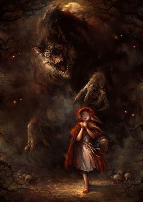 ¿Caperucita y el lobo, o Arya y Nymeria? Fuente