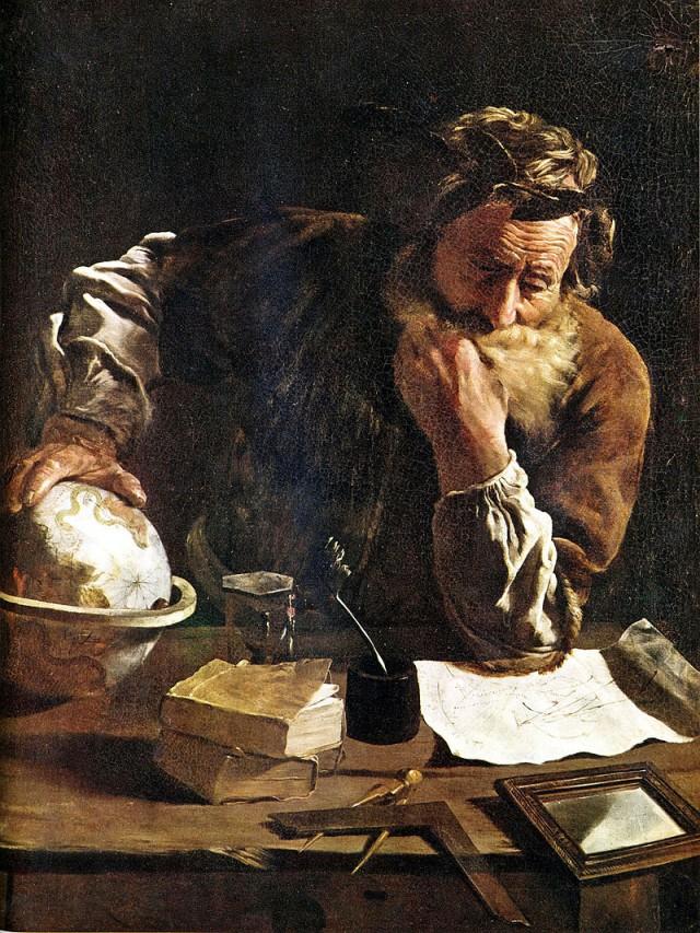 Arquímedes pensativo, obra de 1620 de Domenico-Fetti