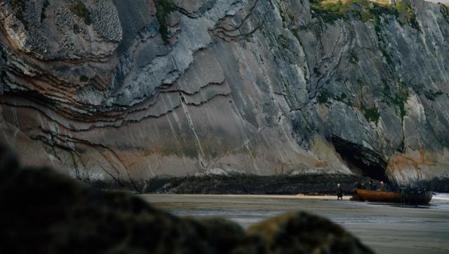 El impresionante flysch de Zumaia a la llegada de Daenerys