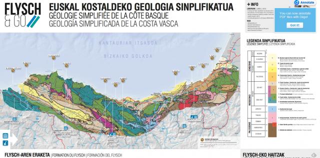 Geología simplificada de la Costa Vasca. PDF completo aquí