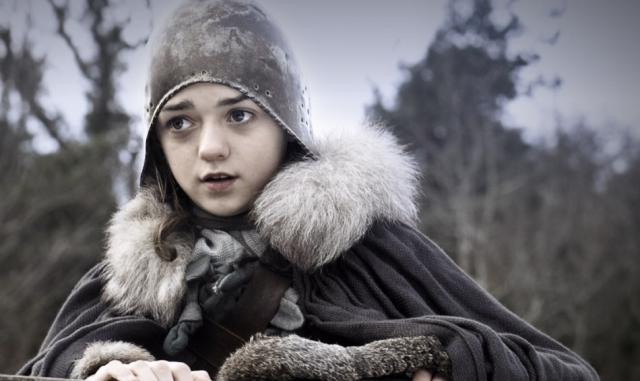 Arya Stark en la primera temporada de Juego de tronos