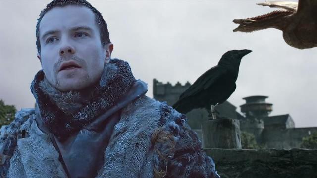 Gendry, el cuervo y Drogon. Fuente