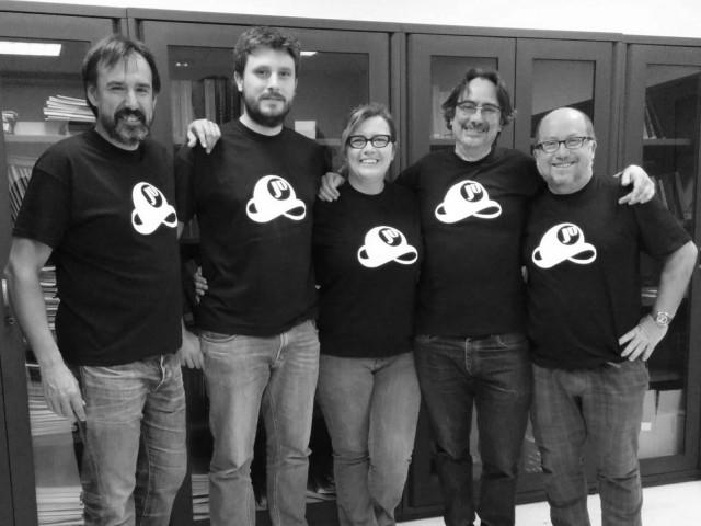 Organizadores de Ciencia Jot Down. De izquierda a derecha: Ángel Fernández, Enrique F. Borja, Clara Grima, Carlos A. García y Alberto Márquez.