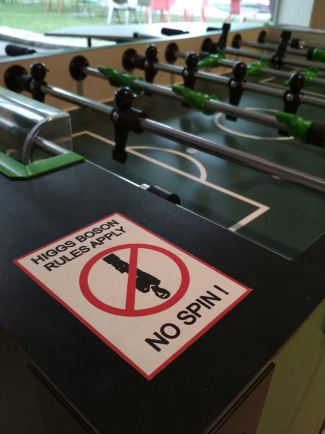 El nuevo futbolín del CERN tiene unas reglas muy claras