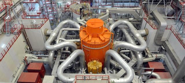 Reactor ruso de neutrones rápidos BN-800 de 800 MW, en funcionamiento desde 2016, que utililiza combustible reciclado. Fuente: Rosatom