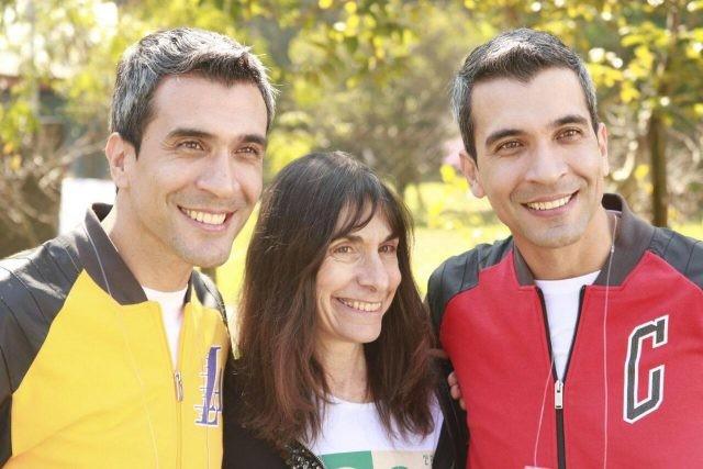 Nancy Segal with identical twins Adaylton and Adalton Leonel / Photograph courtesy of Mauro Silva Junior