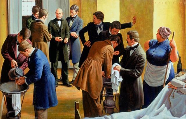 Semmelweis: defensor de la maternidad, de Robert A. Thom. Wikimedia Commons.