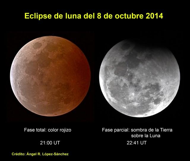 Eclipse de luna del 8 de octubre de 2014 visto desde Sídney, Australia. Crédito: Ángel R. López-Sánchez.