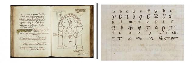Lengua élfica (JRR Tolkien, 1930) | Lengua ignota (Hildegarda de Bingen, 1150)