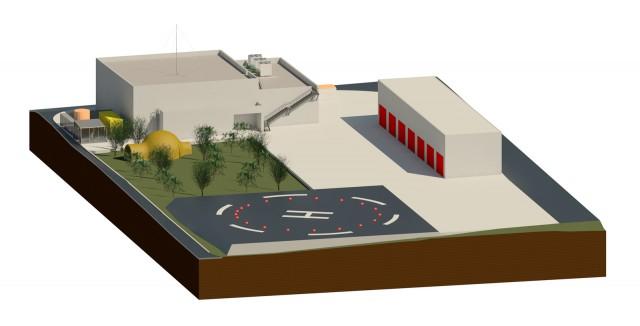 Centro Alternativo de Gestión de Emergencias (CAGE) de la Central Nuclear de Ascó. Fuente (IDOM)