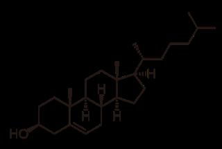 Estructura química en 2D de la molécula de Colesterol, nuestro Frodo particular.