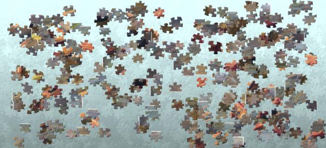 Ya tenemos nuestras piezas preparadas para montar el puzle.