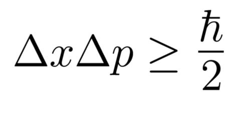 La más famosa de las relaciones de indeterminación de Heisenberg.  La que liga posiciones y momentos lineales.