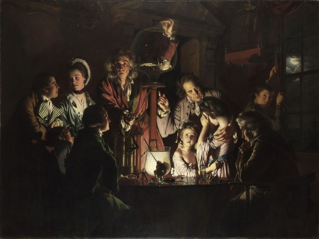 Joseph Wright of Derby (1768) An Experiment on a Bird in an Air Pump, National Gallery, London