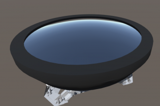 El espejo secundario (M2) será del tipo hiperboloide esférico y estará ubicado en lo alto de la estructura del telescopio. Tendrá un diámetro de 3'1m. Fuente: TMT