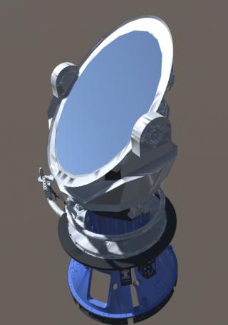 El espejo terciario (M3), con forma de elipse y dimensiones de 3'6m por 2'5m será el responsable de enviar la luz del Universo a cada uno de los instrumentos científicos que se instalarán en el telescopio. Fuente: TMT