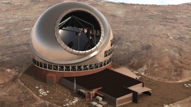 Aspecto que lucirá el Telescopio de Treinta Metros una vez haya finalizado su construcción. Fuente: TMT