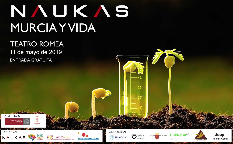 Programa (provisional) de Naukas Murcia y vida (sábado 11 de mayo, Teatro Romea)