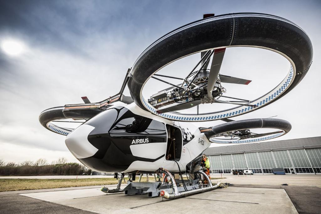 Prototipo de taxi volador eléctrico CityAirbus.