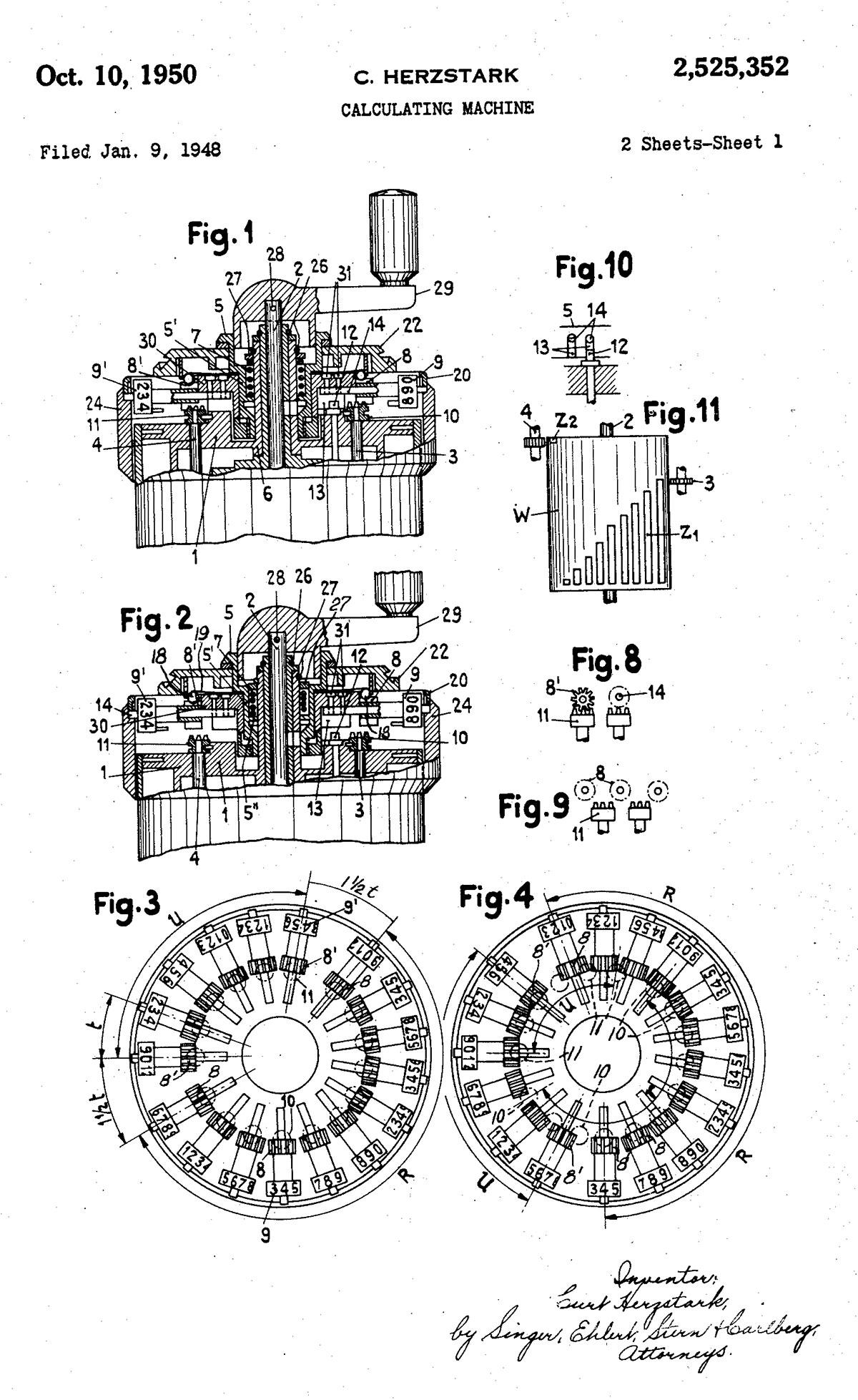 Una de las patentes de la CURTA