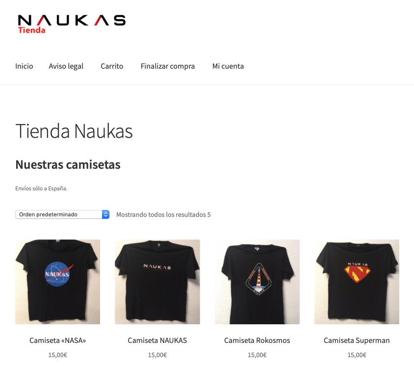 Naukas ya tiene tienda