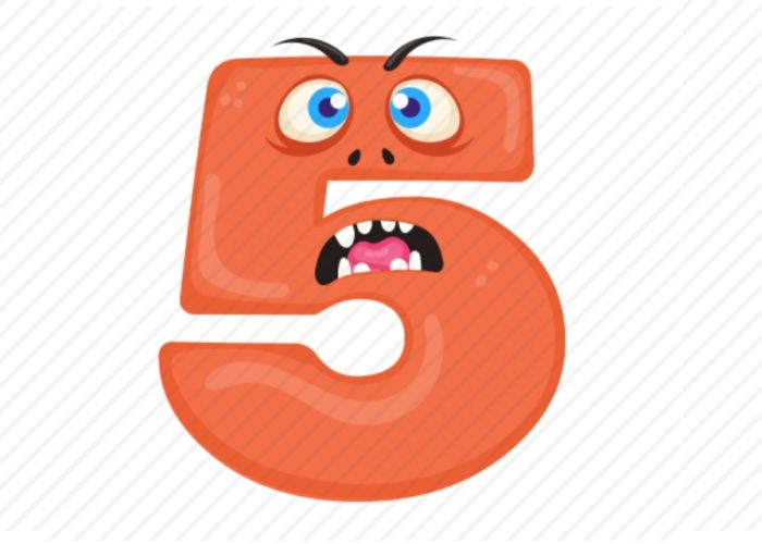 El 5 asustado y otros misterios