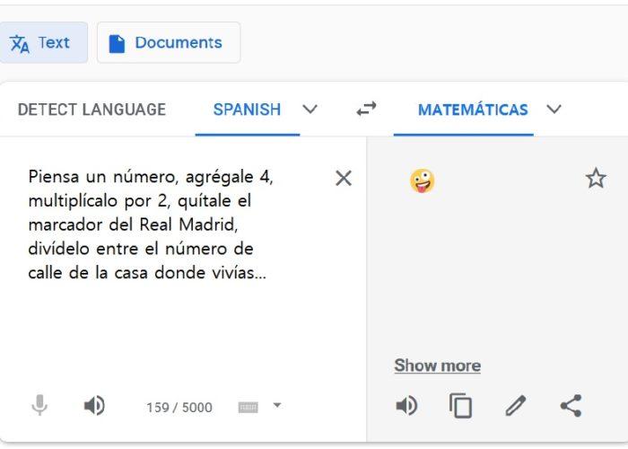 Traduciendo un trabalenguas